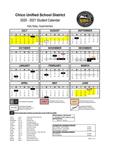 Marsh Jr. High School   CUSD Academic Calendar